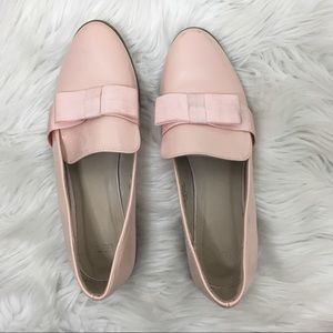 ASOS Light Pink Waxed Loafers